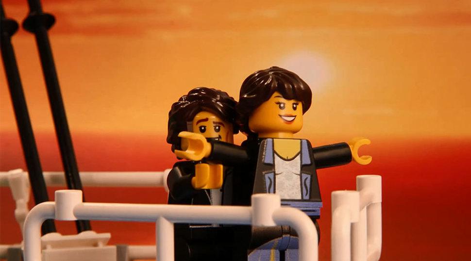 LEGOブロックでのタイタニック