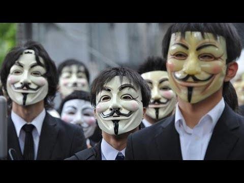 ガイ・フォークス仮面をかぶったハッカー集団「アノニマス」