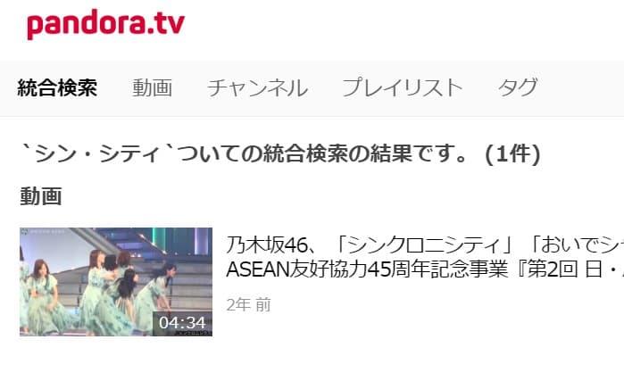 「シン・シティ」はpandora(パンドラ)では、関係ない動画しか配信していませんでした