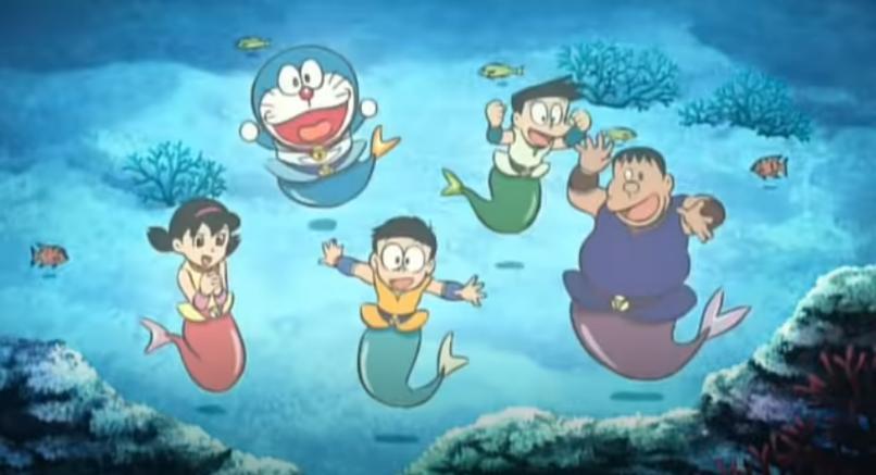 映画「ドラえもん のび太の人魚大海戦」がフルで無料視聴できる動画配信サービス。HuluやNetflix、pandoraやDailymotionで観れる?