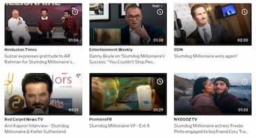 「スラムドッグ$ミリオネア」はDailymotion(デイリーモーション)では対談のような動画しかありませんでした。