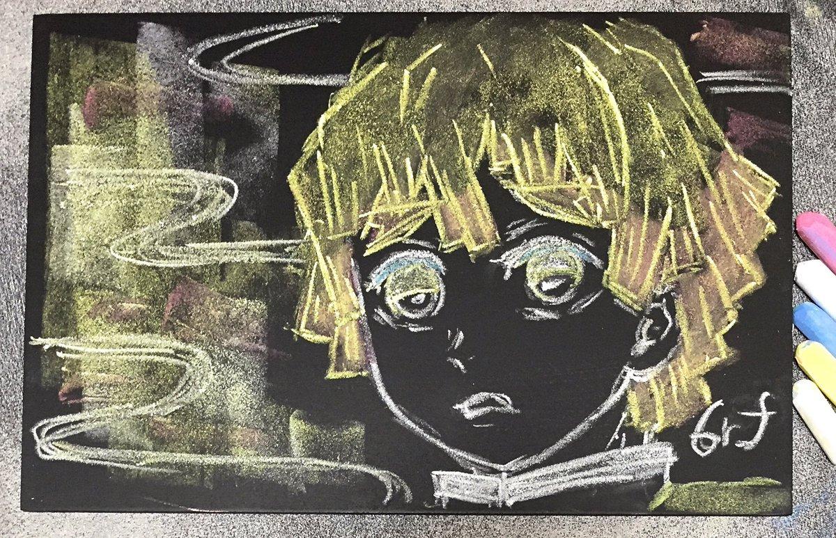 鬼滅の刃の黒板アート(キャラクター個別):我妻善逸