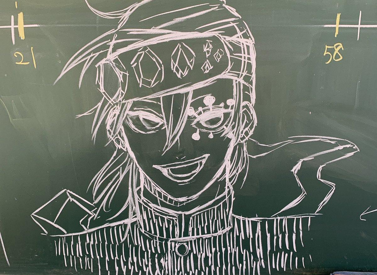 鬼滅の刃の黒板アート(キャラクター個別):宇髄天元(音柱)