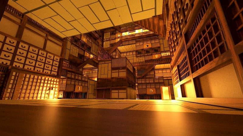 小学生が3DCGソフトで作った鬼滅の刃の無限城が凄いと話題に!